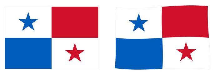 Republic of Panama flag. Simple and slightly waving version.