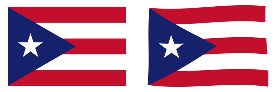 Commonwealth of Puerto Rico flag. Simple and slightly waving version.