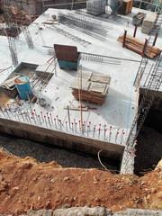 Sitio de construcción, estructura de hormigón