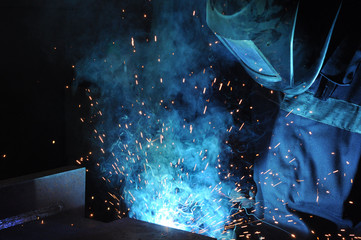 manufacture of welded products. welding of metal structures