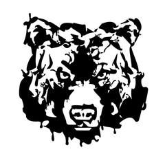 Bear Head Logo Mascot Emblem