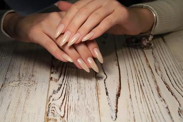 glamorous beautiful manicure