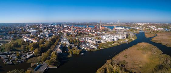 Panoramablick vom Osten zur Hansestadt Rostock