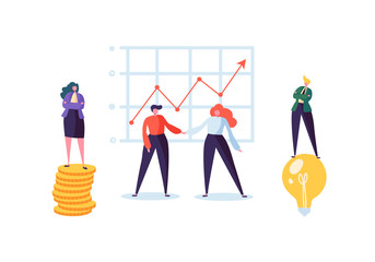 Businessman and Businesswoman Shaking Hands. Partnership Deal Handshake, Meeting Agreement Concept. Characters on Successful Negotiations. Vector illustration