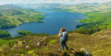 on top of the Mountain in Ben A'an Hill, Highlands, Scotland - Landscape View From Ben A'an Hill, Highlands, Scotland