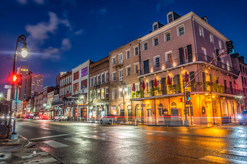 Decatur Street in Downtown New Orleans, Louisiana, USA