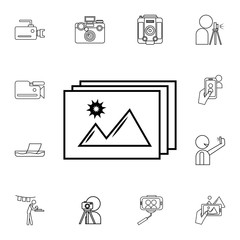Photo icon. Detailed set of photo camera icons. Premium quality graphic design icon. One of the collection icons for websites, web design, mobile app