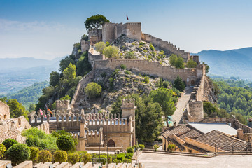 Xativa castle in Spain