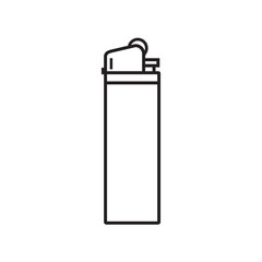 Line icon lighter isolated on white background. Vector illustration.