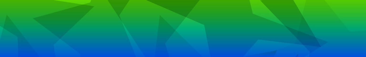 Abstract banner of translucent big stars in green and blue colors Wall mural