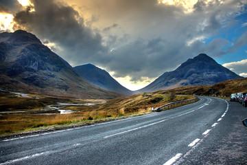 Old Military Road. Glencoe, Highlands, Scotland, UK
