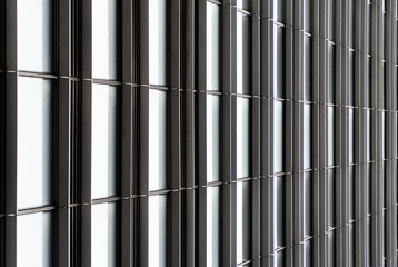 architectural grid pattern style window background of the side of a building in Northern California USA
