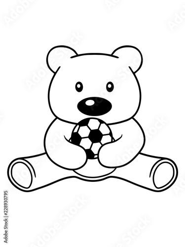 Spielen Fussball Sport Verein Ball Bar Suss Niedlich Sitzen