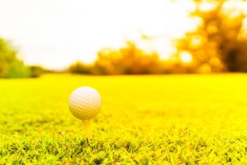 ゴルフボールとティー