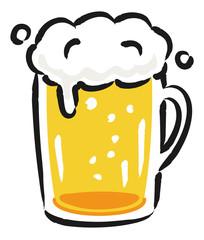 ビールのイラスト 手書き風