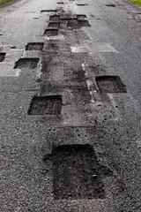 road cut closeup