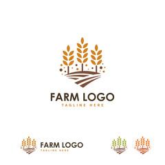Farm logo designs concept vector, Wheat Grain logo template