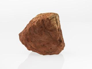 Fragment of granite on a white background.