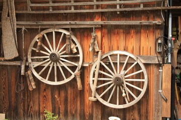 old wooden cart
