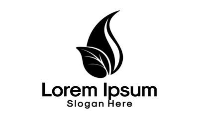 leaf logo design template vector illustration