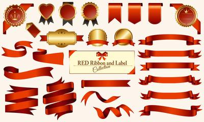 赤いメダル&リボンセット