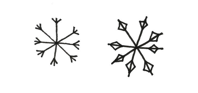New year hand drawn Snowflake winter snow illustration