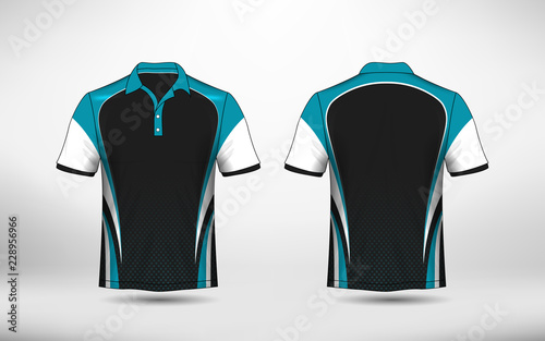 8a2d8bec2 Blue, black and white layout e-sport t-shirt design template