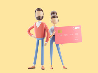 3d illustration. credit card banking concept