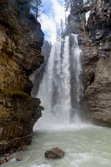 View of Johnston Canyon Waterfall, Banff, Canada, Banff National Park
