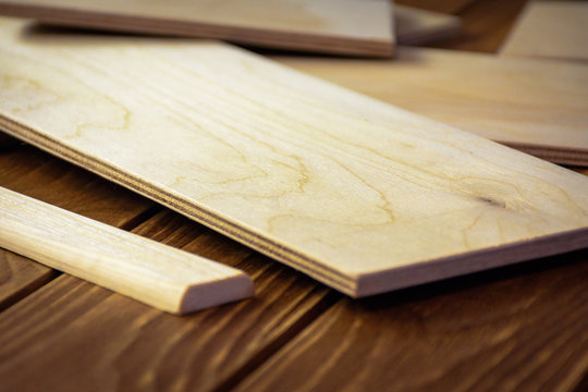 Different wooden boards
