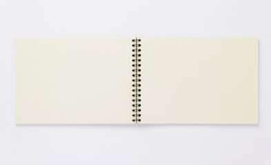 open notebook or book on white  background