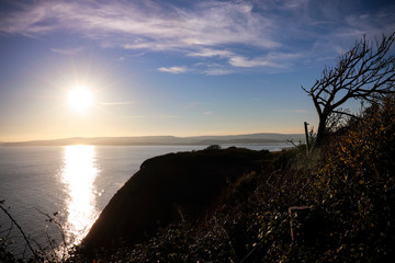 Sunset on Exmouth sea