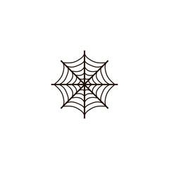Spider web icon. flat design