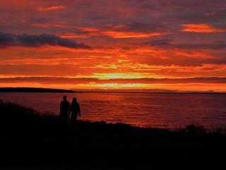 Sonnenuntergang / Islandsommer