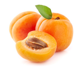 Foto op Canvas Vruchten Fresh apricot fruit in closeup