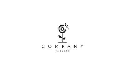 Dandelion Black vector logo image