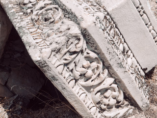 Ruins of ancient Hierapolis Pamukkale, Denizili, Turkey