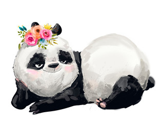 Wall Mural - Little lovely Panda