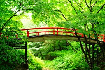 Red Bridge, Ikaho Onsen, Gunma, Japan