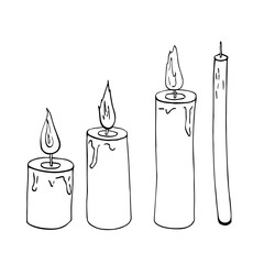 Candle sketch vector