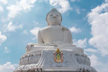 Stunning panoramic view of Phuket big Buddha. Thailand
