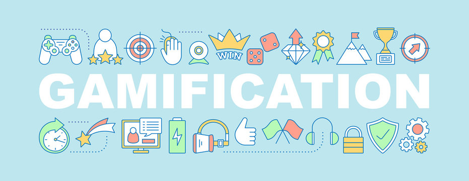 Gamification word concepts banner
