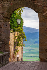 old town in Pienza in Tuscany
