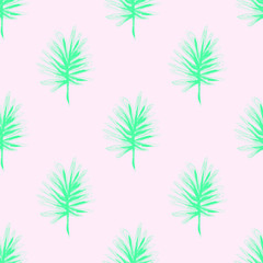 Exotic Palm Leaves Print . Illustration for Surface , Invitation , Notebook, Banner , Wrap Paper ,Textiles, Cover, Magazine ,Postcard Background ,Textile,Fashion