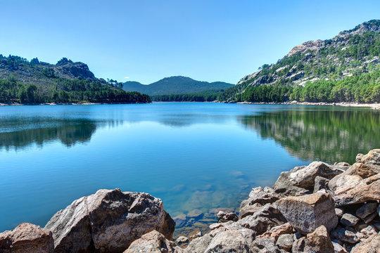 Paysages de Corse-Le barrage de l Ospedale vers Porto-vecchio