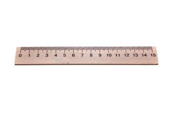 measuring ruler isolated on white background