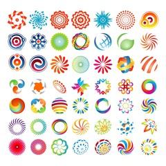 mega set colorful business logo design template