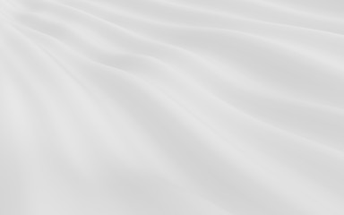 Abstract white wave background. Abstract Minimalistic Design. 3d rendering