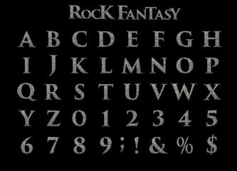 Large Rock Fantasy Alphabet - 3D illustration
