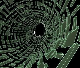 デジタルなトンネルのイメージ